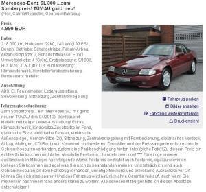 Screenshot: mobile.de vom 08.04.2011