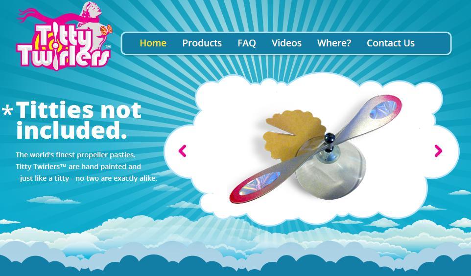 Screenshot von http://tittytwirlers.com/
