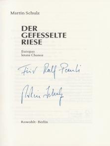Martin Schulz sein Buch